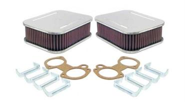 kit dos filtros cuadrados carburadores horizontales