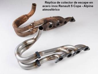 REPLICA COLECTOR ESCAPE ACERO INOX RENAULT 5 COPA ALPINE ATMOSFERICO - copia
