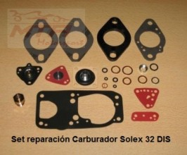 set de reparacion carburador solex 32 DIS renault 5 gt turbo - renault 11 turbo - renault 18 turbo