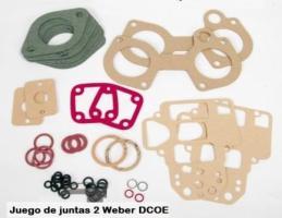 juego de juntas reparación carburadores horizontales weber dcoe - 40 - 45 - Peugeot 205 Rallye - Alfa romeo - Renault alpine -