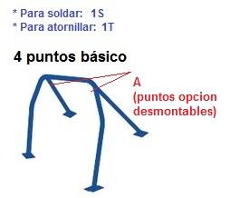 arco-seguridad- basico 4 puntos de-vehiculos-roll-bar-todos-modelos- opcion