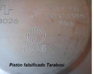 detalle marca falsificado piston tarabusi