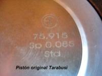 detalle marcado laser piston tarabusi renault turbo